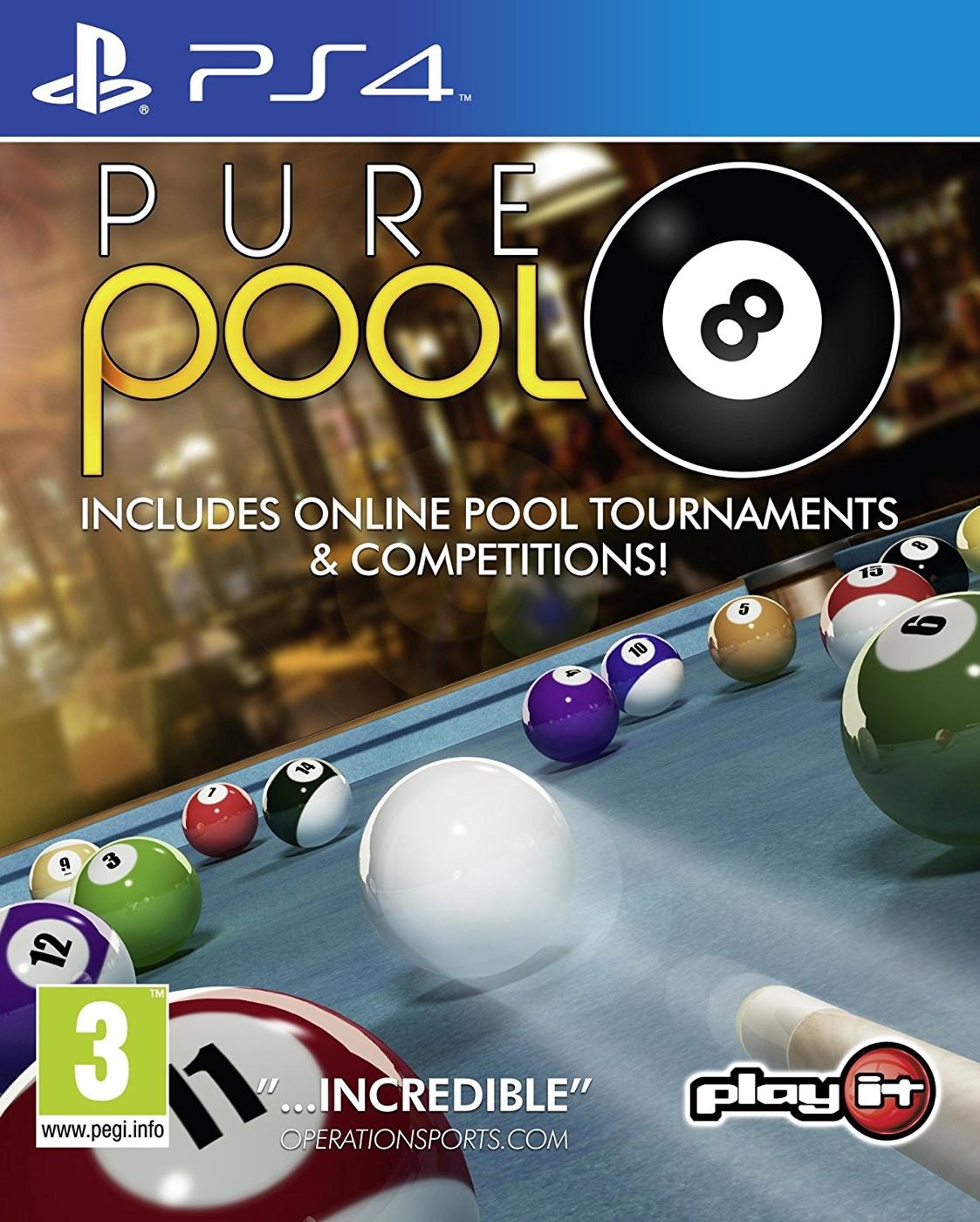 PS4 純正撞球台球 -英文版- Pure Pool