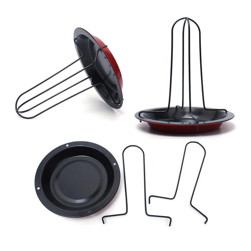 【泰博思】立架烤雞盤 桶仔雞架 碳鋼 烤雞架 烤肉爐 烤肉架 露營【H070】