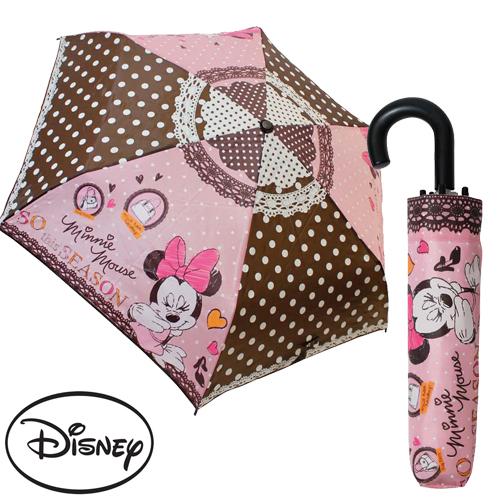 日本進口正版迪士尼米妮Minnie輕量型晴雨傘折疊傘附傘套米老鼠042236