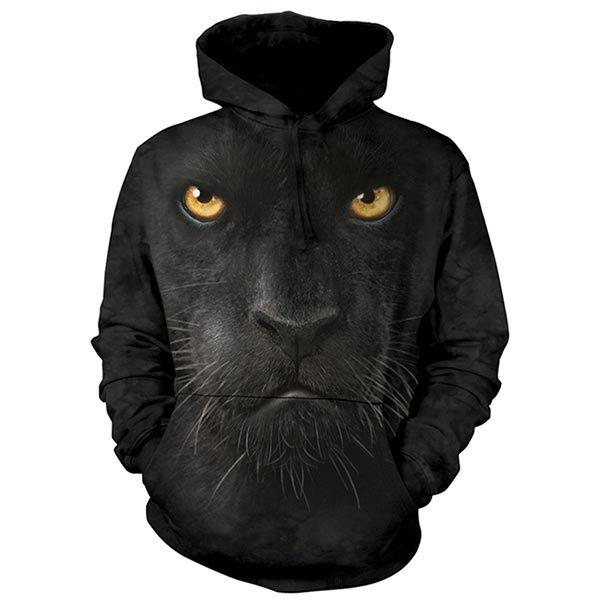 『摩達客』 (預購) 美國進口【The Mountain】黑豹臉 長袖連帽T恤(10514045023a)