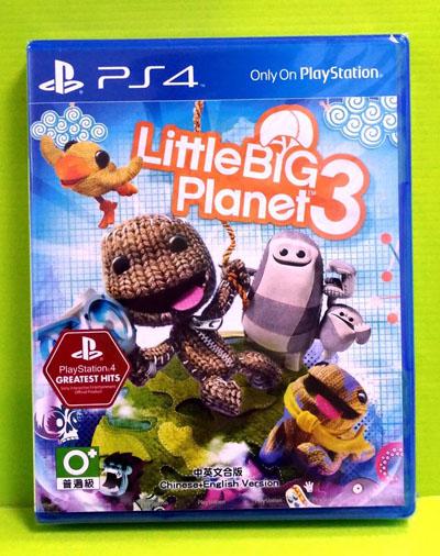 SONY PS4小小大星球3小小大星球3中英文合版繁中版