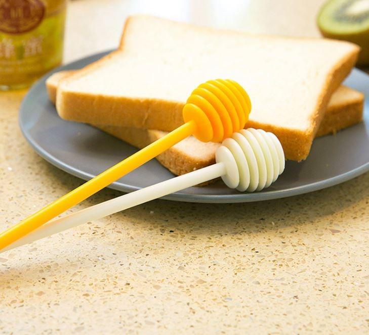 廚房助手-長柄蜂蜜攪拌捧果醬蜂蜜取用棒瓶底沉澱均勻攪拌棒隨機出貨19元