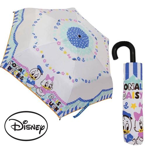 日本進口正版迪士尼唐老鴨黛西輕量型晴雨傘折疊傘附傘套Disney 059890