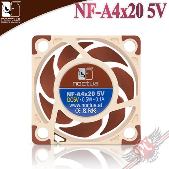 [ PC PARTY ]  貓頭鷹 Noctua  NF-A4x20 5V  4公分 防震靜音風扇