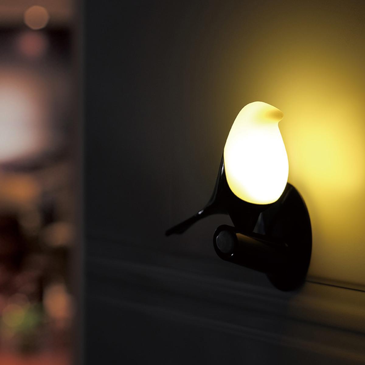 小鳥LED充電小夜燈迷你矽膠燈創意led餵奶燈人體感應燈觸摸光感燈