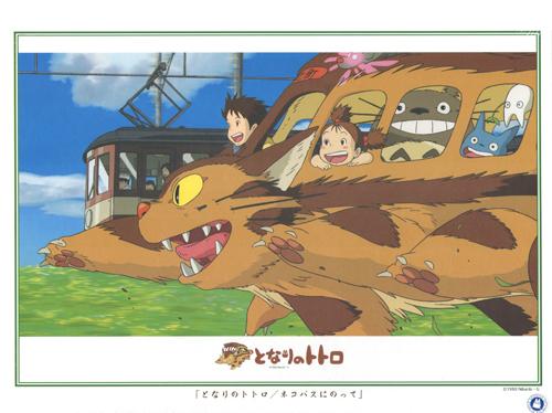 【日本 ensky】盒裝拼圖-宮崎駿-奔跑的貓公車(1000片) #1000-259