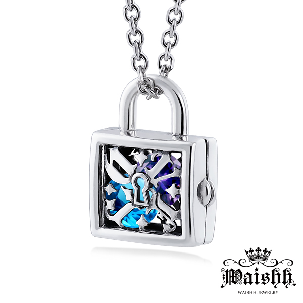 Waishh玩飾不恭鎖住愛男項鍊925純銀幸運誕生石項鍊附贈一顆誕生石單鍊價