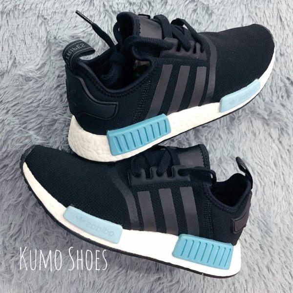 ADIDAS ORIGINAL NMD R1黑藍粉藍水藍網布運動球鞋