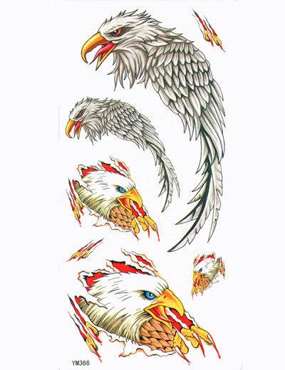 薇嘉雅老鷹超炫圖案紋身貼紙YM366