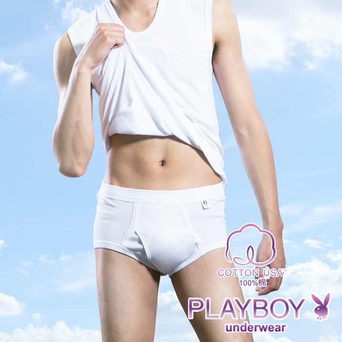 【PLAYBOY】100%純棉 親膚羅紋三角褲-P6620B