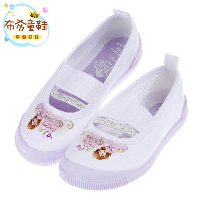 布布童鞋Moonstar日本製Disney蘇菲亞小公主紫色兒童室內鞋15~19公分I7F019F紫色款