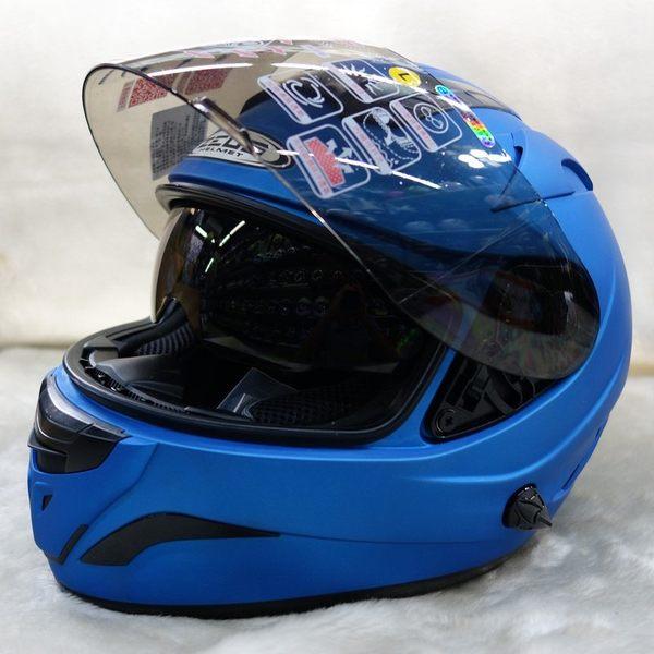 瑞獅ZEUS ZS-806F ZS806F 806F素色雙鏡有墨片全罩式安全帽內襯可拆洗