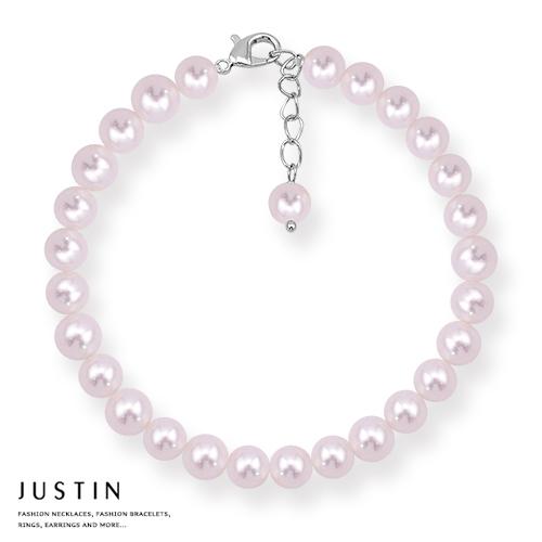 Justin金緻品 天然珍珠 圓滿珍白 珍珠手鍊
