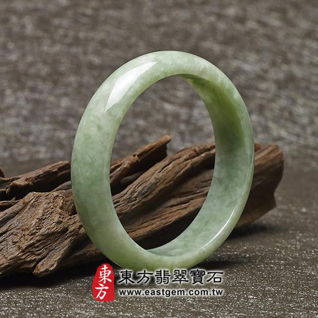 豆種手鐲豆種玉鐲豆種翡翠手鐲淺綠色玉鐲手鐲些微透光圓鐲18 BE011