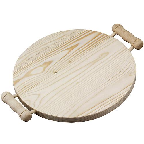 《EXCELSA》Realwood雙柄杉木砧板(圓35cm)