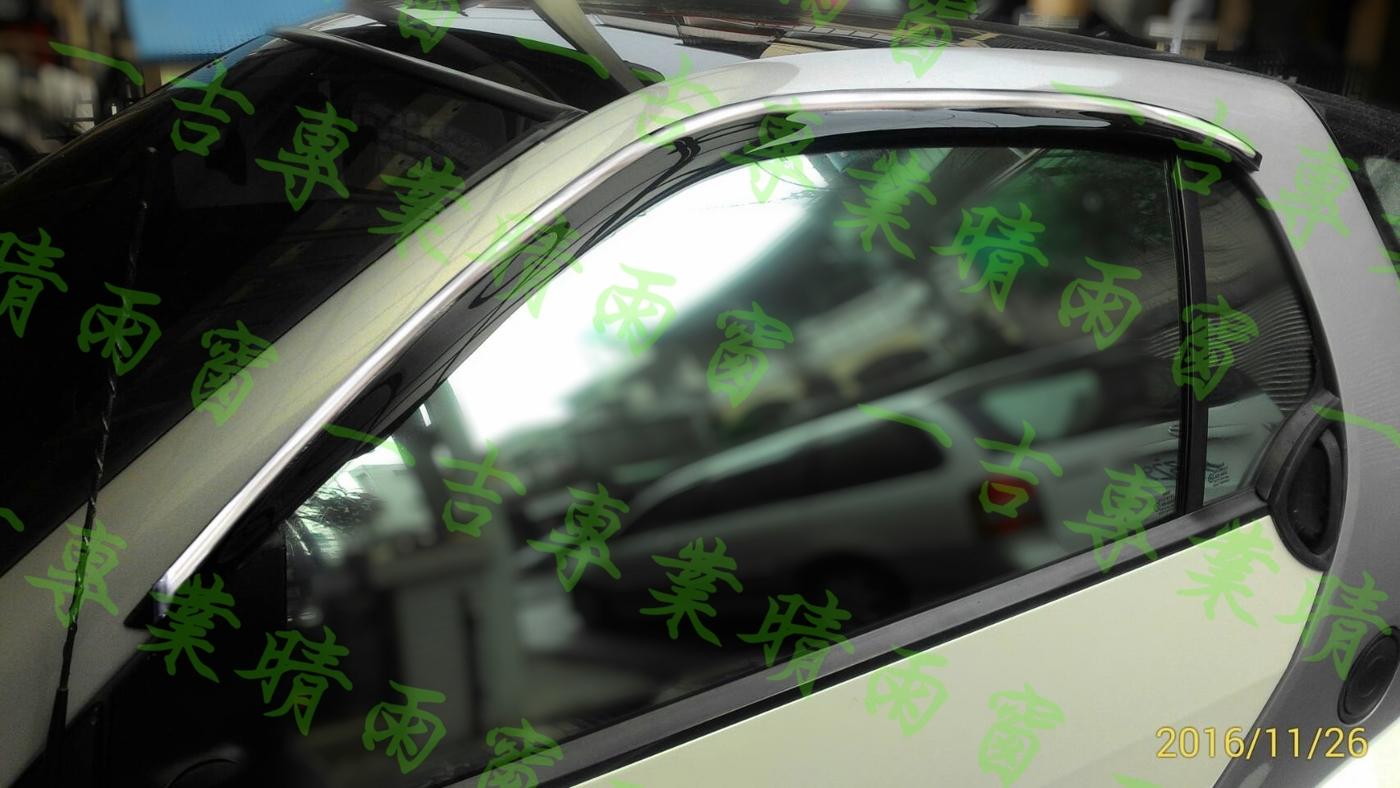 一吉98-02年賓士W450 Smart鍍鉻飾條款原廠型晴雨窗外銷日本W450晴雨窗W450晴雨窗