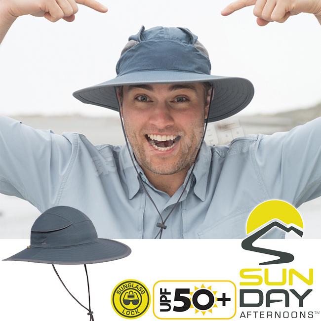Sunday Afternoons S2A02258B-510深邃藍防曬透氣圓盤帽Compass抗UV遮陽帽