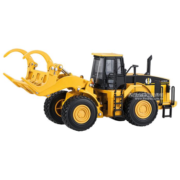 HY TRUCK華一 5012-7代木車 工程合金車模型車 抓木機 伐木機(1:50)【楚崴玩具】