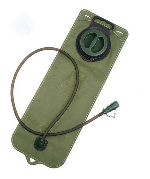 大口水袋3L軍綠色單車跑步專用附吸嘴水管