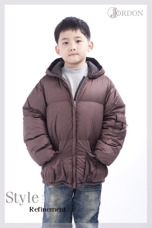 JORDON男童雙面穿極暖羽絨外套201