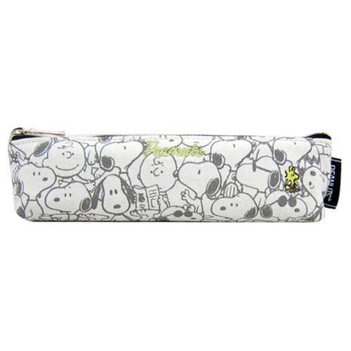 《Marimo》SNOOPY細長型帆布迷你筆袋(滿版圖案)_FT95408