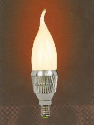 【燈王】《水晶燈專用LED燈泡》E14燈頭 5W 霧光 拉尾燈泡 (需搭配燈具購買)白光/黃光☆LED-E14-5W