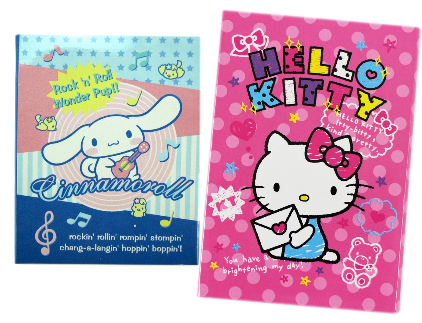 卡漫城Hello Kitty四折便條紙二包組大耳狗售完版隨意貼便利貼N次貼留言