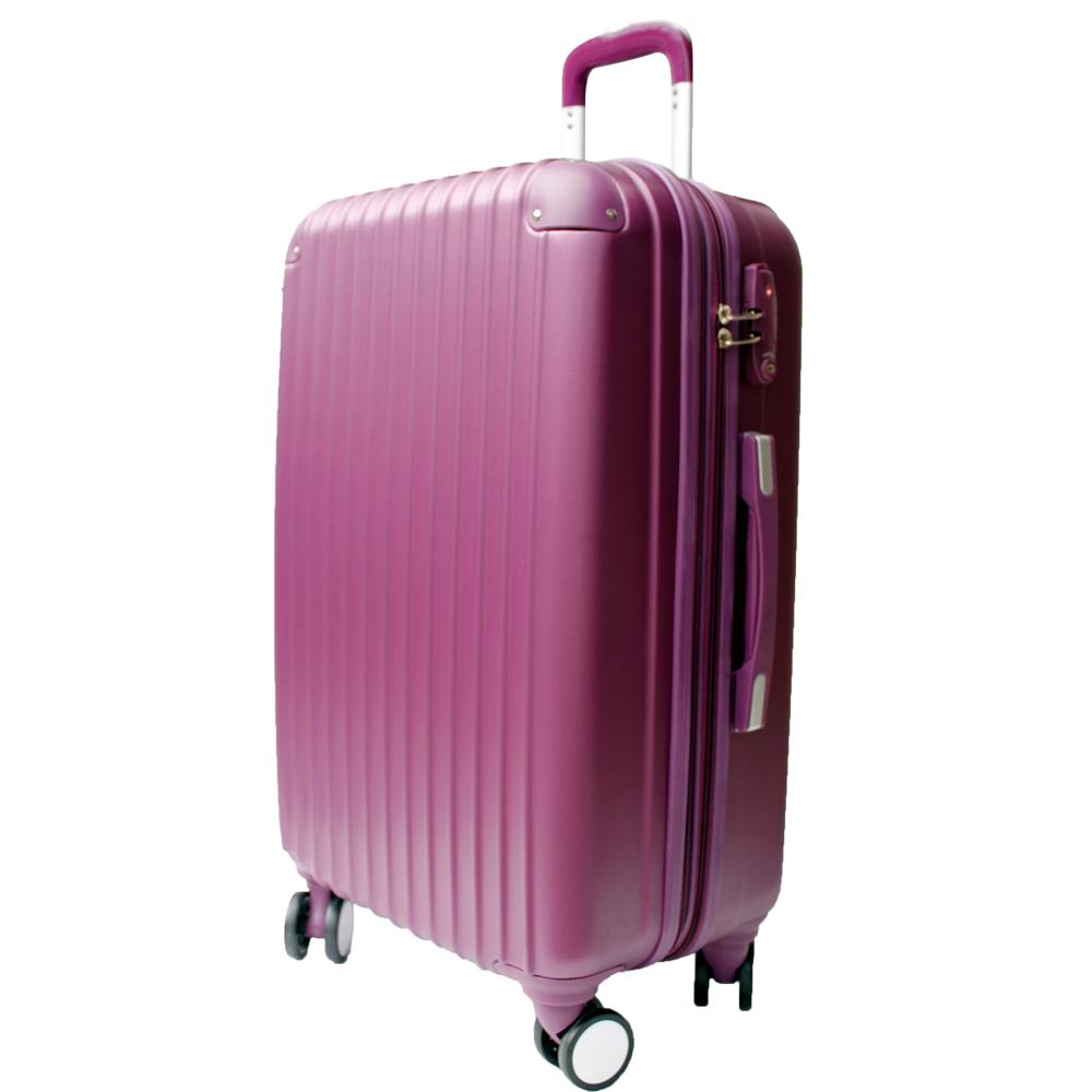 YC Eason皇家系列可加大海關鎖款ABS硬殼行李箱28吋-野莓紫