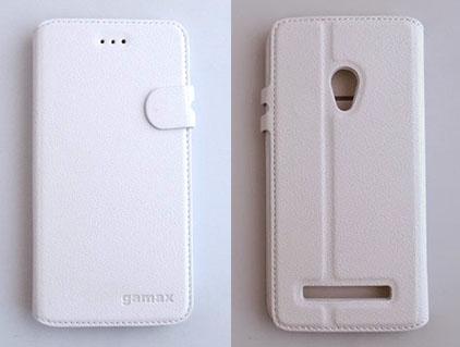 gamax ASUS ASUS ZenFone 5 A500KL ZenFone 5 A500CG磁扣荔枝紋手機套商務二代4色可選加購保護貼更超值