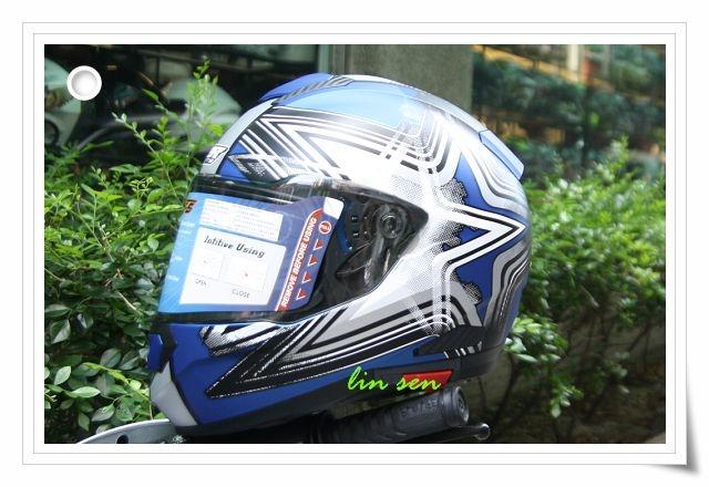M2R安全帽F5 5消光藍銀