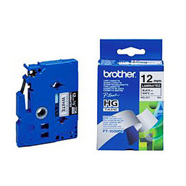 brother TZ-TAPE 【 12mm 】 護貝標籤帶系列-高速列印 - HG-231 白底黑字