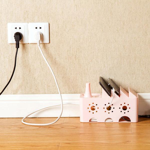 收納用品鏤空電線整理盒桌面整理PMG181收納女王