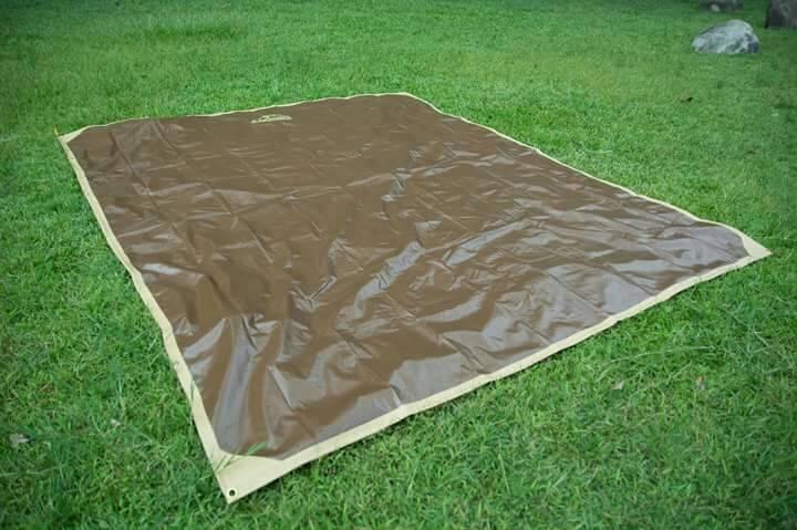 LOWDEN 300*350-超耐磨夾層網布防潮地墊野餐墊多功能地布附收納袋SP大地色露營地墊地布