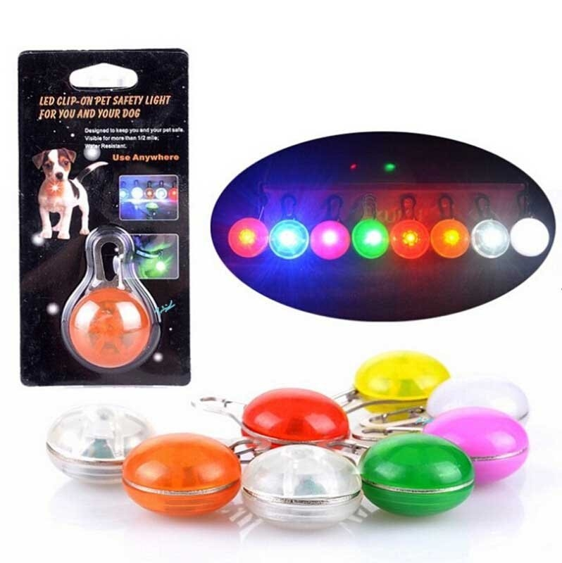 LED發光閃光安全指示燈閃光掛飾球夜晚安全指示燈外出燈閃光吊墜掛飾閃光寵物吊墜瞎拼有理