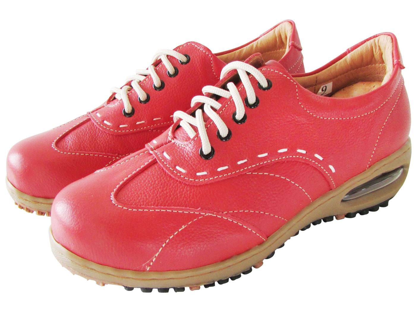 雙惠鞋櫃路豹Zobr典雅線條感女牛皮休閒鞋台灣製造BB725紅