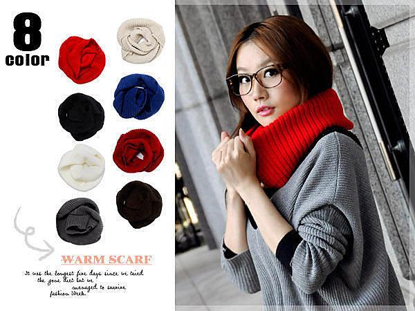 韓國風行素色粗針織多用途大脖圍圍巾 7色【紐約七號】C1-014