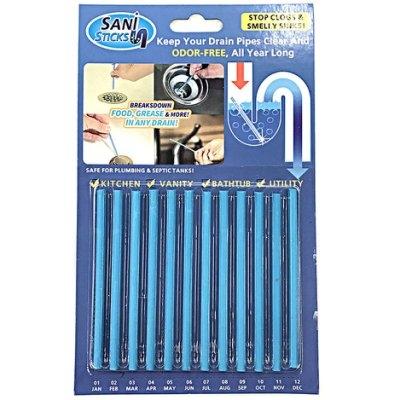正品SANI STICKS水管去污棒 清潔棒/強力水疏通 水管清潔棒 分解廚餘-1卡12支─預購CH581