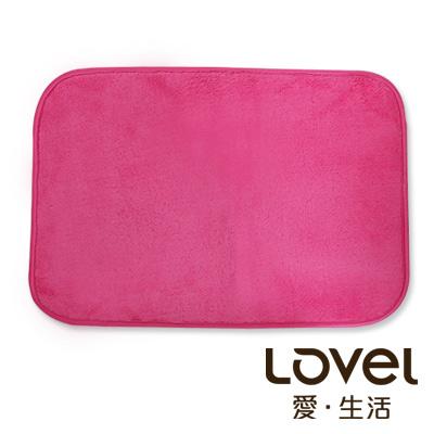 里和Riho LOVEL馬卡龍超細纖維止滑浴墊地墊桃果紅腳踏墊防滑墊