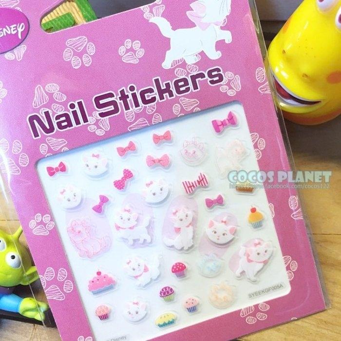 迪士尼指甲貼瑪莉貓瑪麗貓蝴蝶結美甲貼指甲貼紙指甲貼彩繪貼紙COCOS PF033
