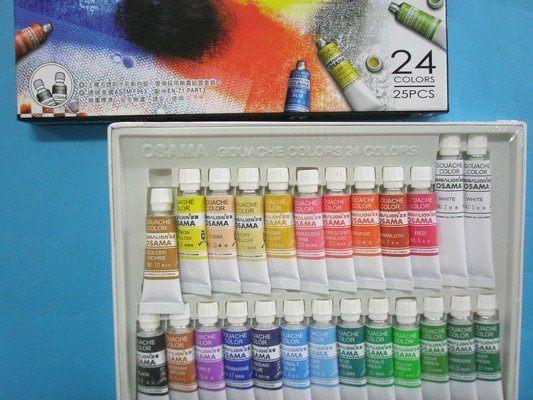 王樣不透明水彩24色水彩顏料GC-24一箱6盒入定195雄獅水彩