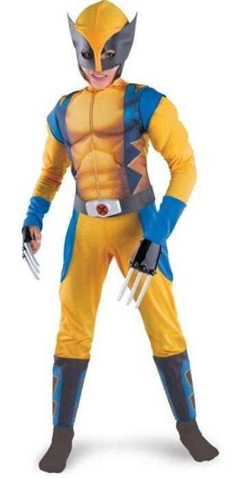節慶王W370076金鋼狼肌肉裝2件式萬聖舞會派對道具變裝表演羅根X戰警cosplay