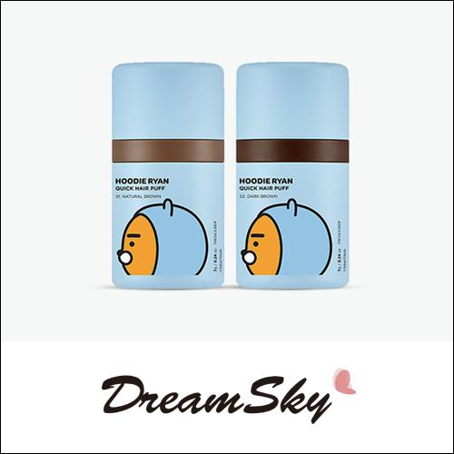 韓國 THE FACE SHOP x  HOODIE RYAN 染髮氣墊噗噗 7g 髮際線 髮線 頭髮 補色 自然 黑棕 深棕 Dreamsky