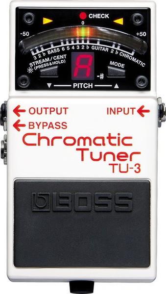 BOSS TU-3半音階調音器Chromatic Tuner可為BOSS單踏效果器供電支援7弦吉他6弦BASS貝斯BOSS TU3