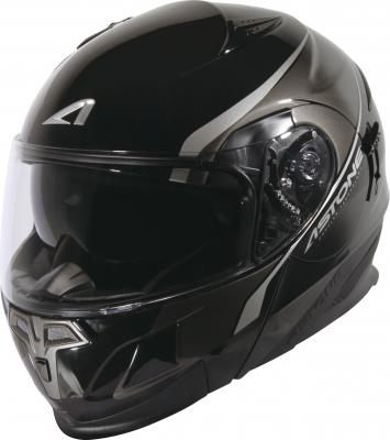 中壢安信法國ASTONE RT1000 AB2黑灰全罩式可掀式安全帽可樂帽內置墨片下巴可掀