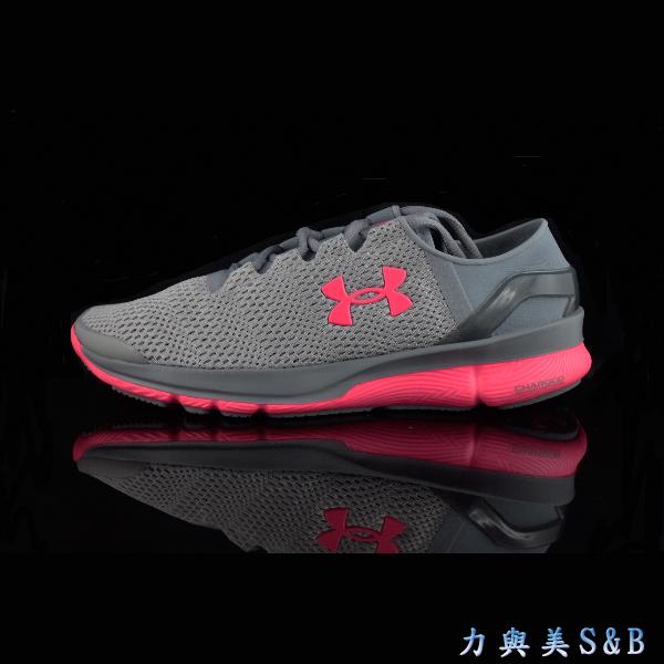 UA女慢跑鞋Speedform Apollo2網布透氣孔鞋面透氣性佳鋼鐵灰色5013