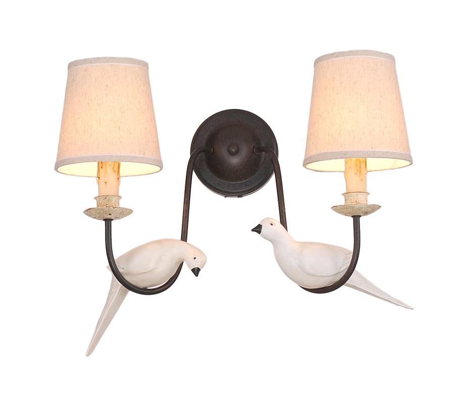 燈王的店白鴿造型燈飾壁燈2燈10782 W2