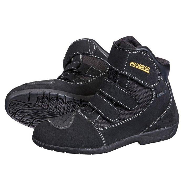 德國Louis PROBIKER VISION摩托車鞋重型機車鞋中筒低筒摩托車靴黑色真皮防水