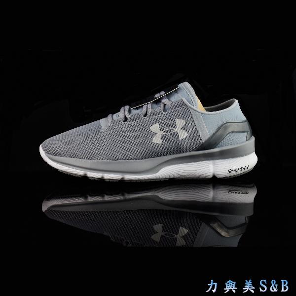UA女慢跑鞋Speedform Apollo2 RF鋼鐵灰色鞋面白色中底5007