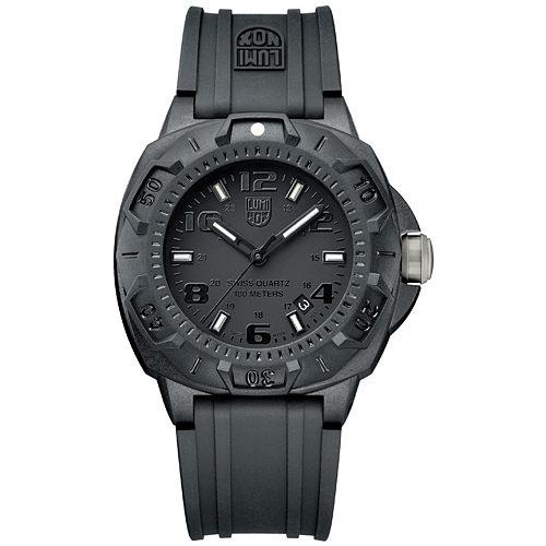 入門推薦 海豹部隊前哨系列腕錶-IP黑x黑時標/43mm LUMINOX 雷明時