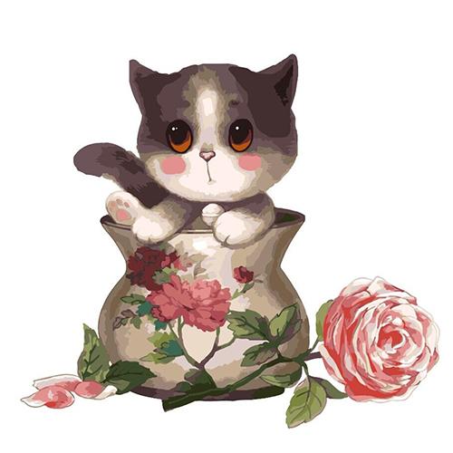 33054花瓶貓